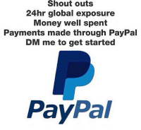 PROMOTE BUSINESS HERE, DM ME FOR MORE INFO: Shout outs  24hr global exposure  Money well spent  Payments made through PayPal  DM me to get started  Pay  Pal PROMOTE BUSINESS HERE, DM ME FOR MORE INFO