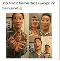 Omg epic 🤗 @to0muchsauc3: Shoutout to the best face swap pic on  the internet  lg:@webclips Omg epic 🤗 @to0muchsauc3
