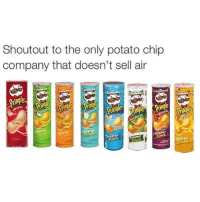 Memes, Potato, and Chip: Shoutout to the only potato chip  company that doesn't sell air