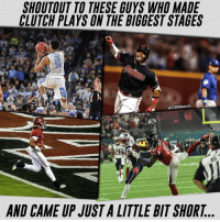 We've seen some incredible championships recently. Let's not forget the guys on the losing end who helped make them so memorable.: SHOUTOUT TO THESE GUYS WHO MADE  CLUTCH PLAYS ON THE BIGGEST STAGES  @CBSSports  AND CAME UP JUSTA LITTLE BIT SHORT We've seen some incredible championships recently. Let's not forget the guys on the losing end who helped make them so memorable.