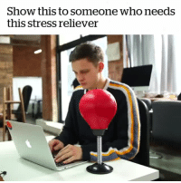 awesomage:DESKTOP PUNCH BAGDon't take out your stress on your boss or colleagues, take it out on the Desktop Punching Bag: Show this to someone who needs  this stress reliever awesomage:DESKTOP PUNCH BAGDon't take out your stress on your boss or colleagues, take it out on the Desktop Punching Bag