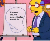 Just, Domesticated, and Waterfalls: Showers  are just  domesticated  waterfalls  0