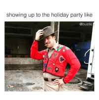 Memes, Party, and Aesthetic: showing up to the holiday party like  @bustle aesthetic: holiday Hopper 🙌