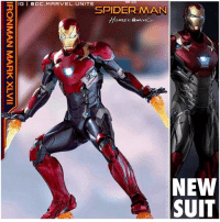Iron Man, Memes, and 🤖: SHOWN IS NOT FINAL PENDING LICENSOR AspAovAL  CHE  IIATX MHVW NVWNOHI Here's our First Good Look at IronMan'a New Armor in SpiderManHomeComing called The MarkXLVII ! This resembles a lot to The Ultimate Iron Man Armor in the comics ! This may possibly also be his Armor for AvengersInfinityWar ! Comment Below your Thoughts ! MCU HYPE ! MarvelStudios MarvelCinematicUniverse 💥 MARVEL