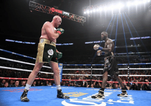 Tyson Fury announces rematch with Deontay Wilder is set for February 22 as long as they both win their next fight, per Now or Never: SHOWTIME PPV  DEONTAY WILDER  DEONTAY WILDER T  DEONTAY WILOER TYSON FURY  TESLDER TYSON FURY  WBC  OLOR Tyson Fury announces rematch with Deontay Wilder is set for February 22 as long as they both win their next fight, per Now or Never