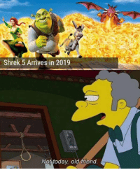 not today: Shrek 5 Arrives in 2019  Not today old friend.