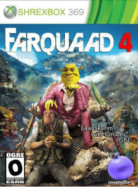 "Skyrim, Content, and Ign: SHREXBOX 369  ROUAAD  ""Like Skyrim  Wi  th Onions""  IGN  OGRE  CONTENT RATED BY  ESRB  ONIONSbF"