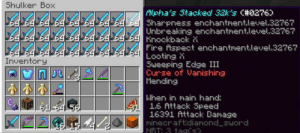The Diamond Sword I Fully Enchanted in Creative coW