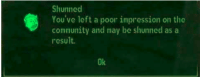 meirl: Shunned  You've left a poor impression on the  community and may be shunned as a  result.  Ok meirl