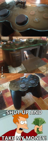 Dream coffee table for a gamer: SHUT UP AND  TAKE MY MONEY! Dream coffee table for a gamer