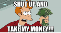 Everyone watching the Apple iPhone 7 release right now.: SHUT UP AND  TAKE MY MONEY!!! Everyone watching the Apple iPhone 7 release right now.
