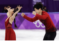 Memes, Free, and United: Siblings Maia Shibutani and Alex Shibutani of the United States win bronze after their performance in the ice dance, free dance figure skating final.