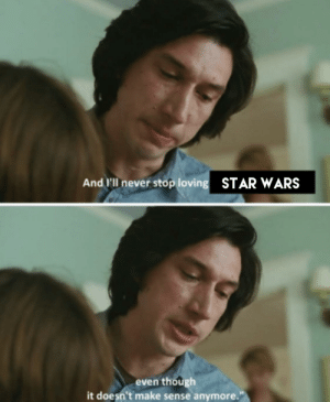 Side note Adam Driver is an excellent actor and Marriage Story is really good: Side note Adam Driver is an excellent actor and Marriage Story is really good