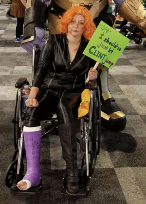This Post-Endgame Black Widow Cosplay: Sigh  I should ve  just let  CLINT jump This Post-Endgame Black Widow Cosplay
