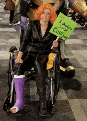 This Post-Endgame Black Widow Cosplay: Sight  I should ve  just let  CLINT jump This Post-Endgame Black Widow Cosplay