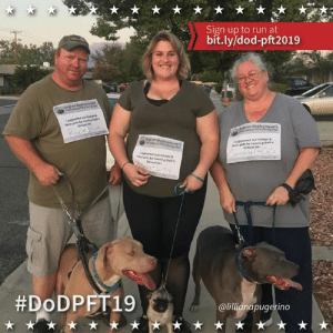 Carrousel, Ray, Brenna, Coco, Lilly, and Blue just finished their first 5k for support of Dogs on Deployment! You can pledge to run or just make a donation to support our troops and their pets at http://bit.ly/dod-pft2019 🏃🐶  Thanks @breh_nuh_bae for sharing your run with #DoDPFT19! For your support, we'll be sending you a challenge coin featuring our mascot, Elmer Fudd the Doxie and a DoD PFT canteen for posting your pic! You guys are awesome!   Be a part of our challenge!  #ItsFriyay #ForAGoodCause #Runners #RunnersofInstagram #pug #pitbull #pibbles #ilovedogs #dogwalking #dogsofinstagram #supportourtroops #supportourvets #military #charity #donate: Sign up to run at  bit.ly/dod-pft2019  Doin Deployt  hesS  M.  tappetest  thrr pets by ing s  RaysBlue  en Deployment's  Dep an Deployments  spperted ur troeps&  pets by reneing Deb's  virtual SK  prt eur tresps&  thts by runsing Dab's  Vitual S  Corcouse  #DODPFT19  @lillianapugerino Carrousel, Ray, Brenna, Coco, Lilly, and Blue just finished their first 5k for support of Dogs on Deployment! You can pledge to run or just make a donation to support our troops and their pets at http://bit.ly/dod-pft2019 🏃🐶  Thanks @breh_nuh_bae for sharing your run with #DoDPFT19! For your support, we'll be sending you a challenge coin featuring our mascot, Elmer Fudd the Doxie and a DoD PFT canteen for posting your pic! You guys are awesome!   Be a part of our challenge!  #ItsFriyay #ForAGoodCause #Runners #RunnersofInstagram #pug #pitbull #pibbles #ilovedogs #dogwalking #dogsofinstagram #supportourtroops #supportourvets #military #charity #donate