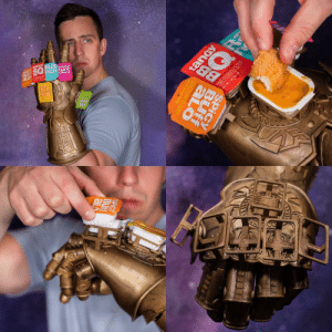omghotmemes:For fun I design fake products, behold The Infinity Saucelet, wield all of your favorite fast food sauces at once. Cover everything in sauce…whatever it takes.: SiGna  0製  Is omghotmemes:For fun I design fake products, behold The Infinity Saucelet, wield all of your favorite fast food sauces at once. Cover everything in sauce…whatever it takes.