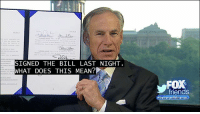 """Friends, Memes, and Mean: SIGNED THE BILL LAST NIGHT  HAT DOES THIS MEAN?  friends  bette  ends """"This law effectively bans sanctuary cities in the state of Texas."""" Governor GregAbbott signed a bill that prohibits sanctuary cities and counties."""