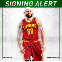Cleveland Cavaliers, Espn, and Memes: SIGNING ALERT  CLEVELAND  VN DESIGN  fOYraVNDSGN #SIGNINGALERT  Deron Williams has already decided to join Cleveland Cavaliers upon clearing waivers, according to ESPN's Marc Stein.  #VNdesign