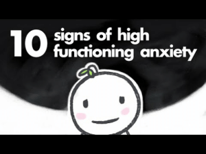 Tumblr, Wtf, and Anxiety: signs of high  functioning anxiety leftoverf00d:  thathufflepuffbitch:   dailypsychologyfacts:  10 Signs of High Functioning Anxiety | psych2go x Natasha Ho  All points are valid, but 9 and 10 really hit home. Sharing for those who might need it.    This video is literally about me wtf