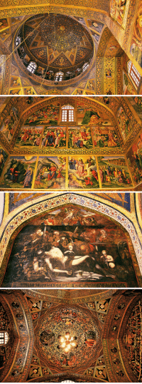 Church, Community, and Jesus: siimorq:   Vank Cathedral in Isfahan, Iran. The Vank Cathedral was established by the Armenian community which is still present in modern-day Isfahan. The church was built in the mid 1600s and the interior is covered with fine paintings and tiled work depicting events from the life of Jesus as well as the torture inflicted upon Armenian martyrs at the hands of the Ottomans