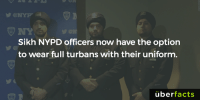 cnn.com, Memes, and Nypd: Sikh NYPD officers now have the option  to wear full turbans with their uniform.  uber  facts http://www.cnn.com/2016/12/29/homepage2/nypd-sikh-officers-turbans-policy-change/