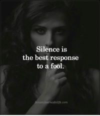 3 ways to tell if your ex still has feelings for you and exactly how to win them back if they do 👉 http://bit.ly/Sayingslove: Silence is  the best response  to a fool.  lessons learnedinlife.com 3 ways to tell if your ex still has feelings for you and exactly how to win them back if they do 👉 http://bit.ly/Sayingslove