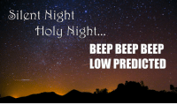 Idea, Silent Night, and Downs: Silent Night  tHolg Night  BEEP BEEP BEEP  LOW PREDICTED <p>Idea by                  <b>Alicia M Downs </b></p>