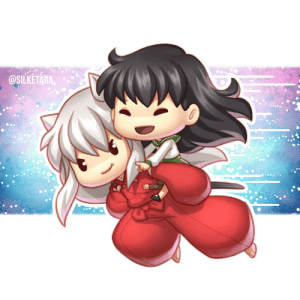 silketara:   Inuyasha and Kagome! You know it won't be complete until I finally finished these 2 😂Prints available on my Redbubble: @SILKETÄRA, silketara:   Inuyasha and Kagome! You know it won't be complete until I finally finished these 2 😂Prints available on my Redbubble