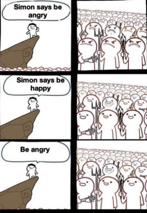 Bilbo, Dank, and Memes: Simon says be  angry  Simon says be  happy  Be angry These guys are good by Bilbo-Baggins-Jr MORE MEMES