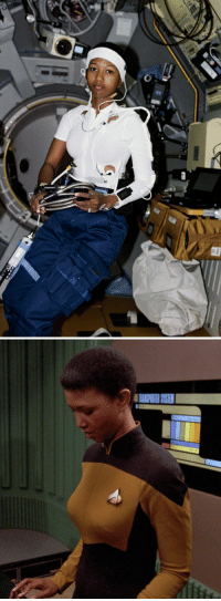 simpleescapism:  flavorcountry: Dr. Mae Jemison, MD, the first black woman in space and first actual astronaut to appear on a Star Trek show, one of the very few people on this planet of whom two pictures can be posted depicting them doing their job on a spaceship with entirely different contexts. Holy shit this is a serious contender for the best post I've ever seen on tumblr. : simpleescapism:  flavorcountry: Dr. Mae Jemison, MD, the first black woman in space and first actual astronaut to appear on a Star Trek show, one of the very few people on this planet of whom two pictures can be posted depicting them doing their job on a spaceship with entirely different contexts. Holy shit this is a serious contender for the best post I've ever seen on tumblr.