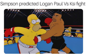 Where are tags go: Simpson predicted Logan Paul Vs Ksi fight Where are tags go