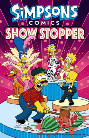 Homer only has 25 hours to save everyone and everything! See what happens in one of Matt Groening's latest comic books that you can get here: https://fox.tv/ShowStopper: SiMPSONS  SHOW STOPPER  cOMICS Homer only has 25 hours to save everyone and everything! See what happens in one of Matt Groening's latest comic books that you can get here: https://fox.tv/ShowStopper