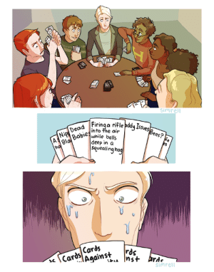 chaser-really: secretlycrazyhummingbird:  simrell: the thought of snooty, pure-blooded, draco malfoy playing cards against humanity with a bunch of gryffindors (plus luna) was stuck in my brain for a VERY long time. daddy issues…   Brb crying : simrell  Firinga rifle pdy Issues  into the air  SSves  Bees? fe  eo  Ni Babieswnile balls  deep in a  squealing hog  Cards/Cardj  Agains+  simrell chaser-really: secretlycrazyhummingbird:  simrell: the thought of snooty, pure-blooded, draco malfoy playing cards against humanity with a bunch of gryffindors (plus luna) was stuck in my brain for a VERY long time. daddy issues…   Brb crying