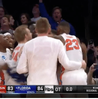 Memes, Florida, and Ncaa: SIN 83 FLORIDA 84 tbs OT 0.0  NUS. POSS  BONUS  NCAA  REGIONAL The Gators keep chomping! 😧💪 GatorsRollOn Elite8