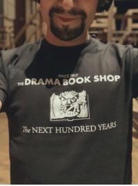 Anaconda, Memes, and I Won: SINCE 1917  HEDRAMA BOOK SHOP  CEE  The NEXT HUNDRED YEARS Gutted I won't be at the last day of @dramabookshop in its old location on Sunday (I'm in 🇵🇷)... But the first 100 customers this Sunday will get this free t-shirt to help us celebrate the next chapter! The shop opens at noon!☺️ https://t.co/g7Y1Ozk6N2