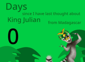 Dank, Memes, and Target: since I have last thought about  King Julian from Madagascan  0 Meirl by frigydigy MORE MEMES