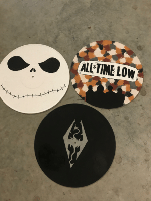 Since it's painting week, here's all the vinyl records I've painted: Since it's painting week, here's all the vinyl records I've painted