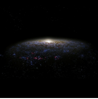 Energy, Memes, and Nasa: Since the Big Bang, the universe has been constantly expanding. Findings from the Hubble Space Telescope revealed the universe was previously expanding more slowly than it is currently. Scientists believe this accelerated universal expansion is connected to dark energy - a theoretical repulsive force that counteracts gravity. In addition, there is another theoretical mysterious mass out in the universe known as dark matter. Like dark energy, very little is known about dark matter. Dark matter is not believed to contain baryonic matter (protons, neutrons, and electrons) nor does it emit light or energy. According to NASA, roughly 68% of the universe is dark energy, and 27% is dark matter. Everything else - Earth and all other matter ever observed - adds up to less than 5% of the universe. The universe is certainly more than meets the eye! universe darkmatter darkenergy space science