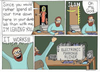 😆🤣 . . marriage electricalengineering electrical electrician engineering engineer engineers wife problems engineerproblems friday science engineeringmemes engineering_memes engineeringrepublic: Since you would  rather spend a  E  your time down  here in your dumb  lab than with me,  IM LEAVING YOU  IT WORKS  SLAM On  my  ELECTRONIC  DD  MARRIAGE  RUINER 😆🤣 . . marriage electricalengineering electrical electrician engineering engineer engineers wife problems engineerproblems friday science engineeringmemes engineering_memes engineeringrepublic