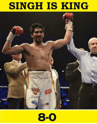 Vijender SIngh has knocked out Francis Cheka to extend his unbeaten professional record to 8-0!!!!: SINGH IS KING  HERBALIFE  840 Vijender SIngh has knocked out Francis Cheka to extend his unbeaten professional record to 8-0!!!!