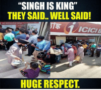 """Respect :): """"SINGH IS KING""""  THEY SAID.. WELL SAID!  at attractive ratos  ICICI  HUGE RESPECT Respect :)"""
