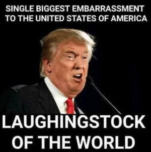 25 Memes Proving Trump Is Grossly Unfit to be President: http://bit.ly/2FN0DqL: SINGLE BIGGEST EMBARRASSMENT  TO THE UNITED STATES OF AMERICA  LAUGHINGSTOCK  OF THE WORLD 25 Memes Proving Trump Is Grossly Unfit to be President: http://bit.ly/2FN0DqL