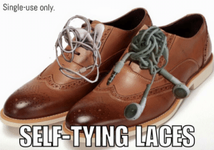 Dank, Memes, and Reddit: Single-use only.  RICKXE  SELF-TYING LACES You'll never take them off by StealMyMemes FOLLOW 4 MORE MEMES.