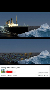 Sinking of titanic (1912): Sinking of the Titanic (1912)  Simple History  Subscribe  1.7M  3,225,007 views  Add toShare.More  38,0531,256 Sinking of titanic (1912)