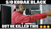 "Memes, Vision, and Black: SIO KODAK BLACK  BUT HE KILLED THIS TUNNEL VISION like KODAK BLACK"" He 17 and he killin it🔥🔥🔥😮@zachdiamond_"