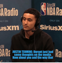 "Bad, Los Angeles Lakers, and Memes: SiriusM  NBA Ra  XM  ARadio  NLY ON  ONLY ON  usxm  SiriusX  SXM  JUSTIN TERMINE: Durant just had  some thoughts on the media.  How about you and the way that  i[  LY ON ""I'd rather be talked about bad in L.A. than play in Orlando and not get talked about.""   Kyle Kuzma on the amount of media coverage the Lakers get.   (Via @SiriusXMNBA)    https://t.co/HrJyux5Kqx"