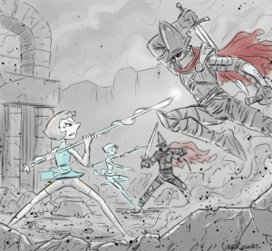 Tumblr, Thank You, and Blog: sirlanceolaf:  An awesome commission I got from @cubedcoconut of Pearl and her holo-clones fighting the Abyss Watchers from Dark Souls 3. Go and support him, or even just follow him. He draws him some awesome Pearl, sfw or not.  I didnt even know that i needed to see this.The cosmos did show me anyway.Thank you Cosmos