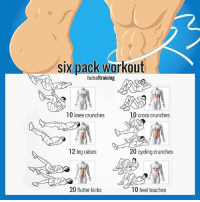 Six pack workout🔥 Share this with a friend. - Check out @gym.starz 💫 - Credit @factsoftraining: six pack workout  factsoftraining  10 knee crunches  10 cross crunches  12 leg raises  20 cycling crunches  10 heel touches  20 flutter kicks Six pack workout🔥 Share this with a friend. - Check out @gym.starz 💫 - Credit @factsoftraining