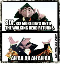 Countdown, Memes, and 🤖: SIX SIX MORE DAYS UNTIL  THE WALKING DEAD RETURNS  AHAHAHAHAHAH And the COUNTdown begins......  Walking Dead Funny Pages